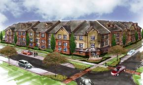 Rendering of the Washington Street Senior Residences